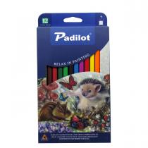 مداد رنگی 12 رنگ پادیلوت جعبه مقوا