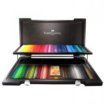 مدادرنگی 120 رنگ پلی کروم فابرکاستل جعبه چوب