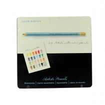 مداد ابرنگی 24 رنگ رونی جعبه فلز
