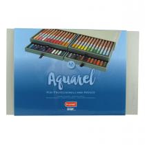 مداد ابرنگی 48 رنگ برونزیل جعبه چوب