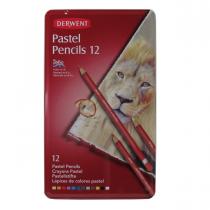 مداد پاستل گچی 12 رنگ درونت جعبه فلز
