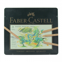 مداد پاستل گچی 24 رنگ فابرکاستل جعبه فلز