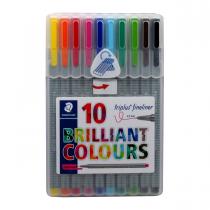 روان نویس triplus استدلر 10 رنگ جعبه طلقی