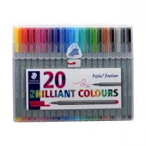 روان نویس triplus استدلر 20 رنگ جعبه طلقی