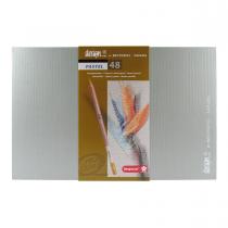 مداد پاستل گچی 48 رنگ برونزیل جعبه چوب