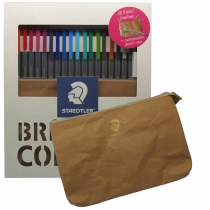 روان نویس triplus استدلر 20 رنگ جعبه مقوا بهمراه کیف