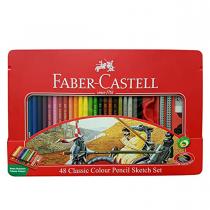 مدادرنگی 48 رنگ کلاسیک فابرکاستل (اصلی) جعبه فلز