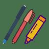 ماژیک و راپید و روان نویس و خودکار