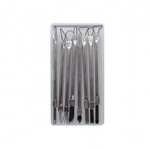 ابزار حرفه ای سفال (کاهنده) فلزی دسته باریک دوسر