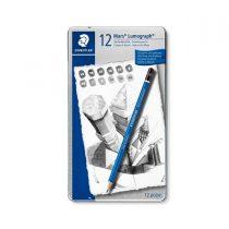 ست مداد طراحی لوموگراف استدلر 12 عددی جعبه فلز